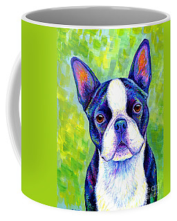 Colorful Boston Terrier Dog Coffee Mug