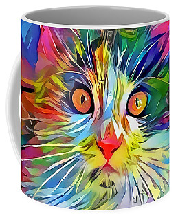 Colorful Calico Cat Coffee Mug