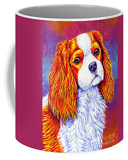 Colorful Cavalier King Charles Spaniel Dog Coffee Mug