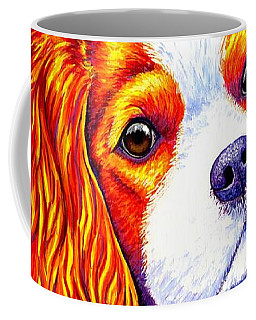 Colorful Cavalier King Charles Spaniel Dog Coffee Mug