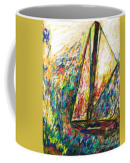Colorful Day On The Water Coffee Mug