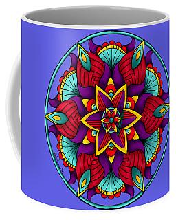 Colorful Flower Mandala Coffee Mug