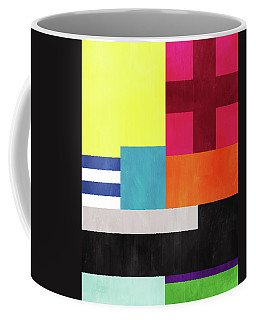 Coffee Mug featuring the mixed media Colorful Geometric Abstract 2- Art By Linda Woods by Linda Woods
