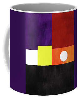 Coffee Mug featuring the mixed media Colorful Geometric Abstract 3- Art By Linda Woods by Linda Woods