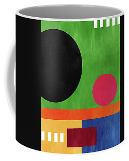 Coffee Mug featuring the mixed media Colorful Geometric Abstract 4- Art By Linda Woods by Linda Woods