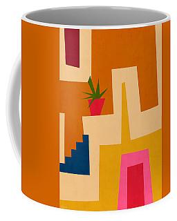 Colorful Geometric House 2- Art By Linda Woods Coffee Mug