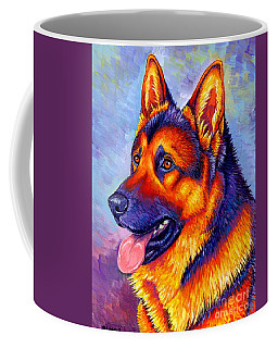 Colorful German Shepherd Dog Coffee Mug