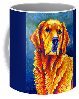 Colorful Golden Retriever Dog Coffee Mug