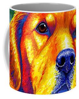 Colorful Golden Retriever Dog Coffee Mug