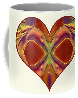 Coffee Mug featuring the digital art Colorful Heart - Naked Truth - Omaste Witkowski by Omaste Witkowski