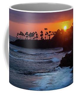 Coffee Mug featuring the photograph Colorful Laguna Beach Sunset by Andy Konieczny