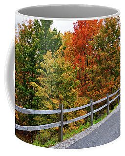 Coffee Mug featuring the photograph Colorful Lane by SimplyCMB