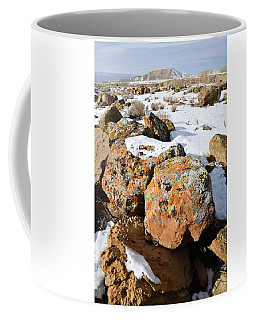 Colorful Lichen Covered Boulders In Book Cliffs Coffee Mug