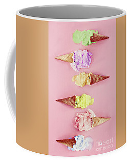 Colorful Melting Ice Cream Cones Coffee Mug