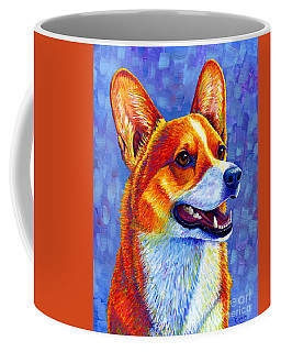 Colorful Pembroke Welsh Corgi Dog Coffee Mug