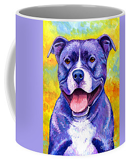 Colorful Pitbull Terrier Dog Coffee Mug