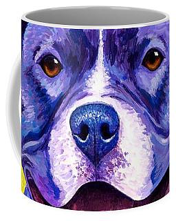 Colorful Pitbull Terrier Dog Coffee Mug