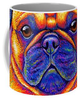 Colorful Rainbow Pug Dog Portrait Coffee Mug