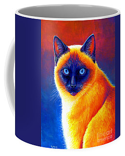 Jewel Of The Orient - Colorful Siamese Cat Coffee Mug