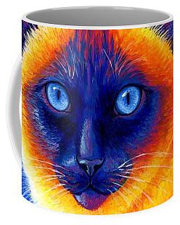 Colorful Siamese Cat Coffee Mug