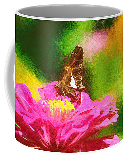 Colorful Silver Spotted Skipper Butterfly Coffee Mug