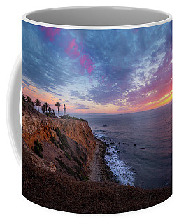 Colorful Sky After Sunset At Point Vicente Lighthouse Coffee Mug