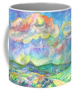 Coffee Mug featuring the painting Colorful Summer Landscape by Dobrotsvet Art