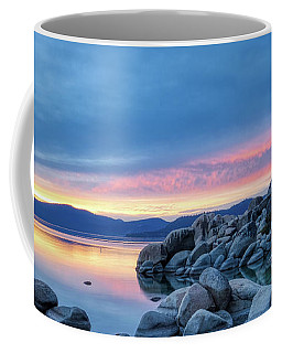 Coffee Mug featuring the photograph Colorful Sunset At Sand Harbor by Andy Konieczny