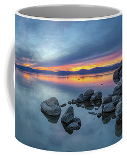 Colorful Sunset At Sand Harbor Panorama Coffee Mug