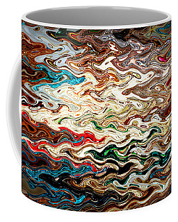 Colorful Waves Abstract Coffee Mug
