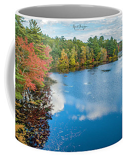 Coffee Mug featuring the photograph Colors Of Cady Pond by Michael Hughes