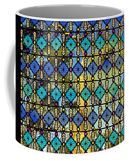 Coffee Mug featuring the mixed media Colour Glass Window View To The Gums by Joan Stratton