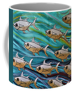 Coffee Mug featuring the painting Coloured Water Fish by Joan Stratton