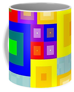 Coffee Mug featuring the painting Colourful Cubism  by Arttantra