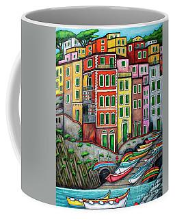 Colours Of Riomaggiore Cinque Terre Coffee Mug