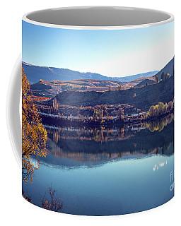 Coffee Mug featuring the photograph Train Reflection by Mae Wertz