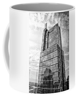 Coffee Mug featuring the photograph Comcast Technology Center - Philadelphia In Black And White by Bill Cannon