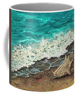 Coffee Mug featuring the painting Conch Shell by Darice Machel McGuire