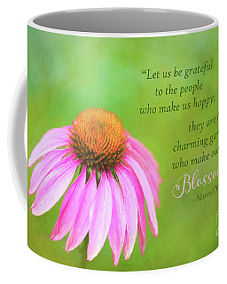 Coneflower Gratitude Art Coffee Mug