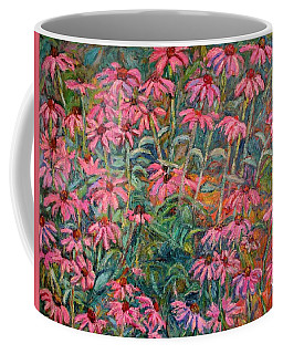 Coffee Mug featuring the painting Coneflowers by Kendall Kessler