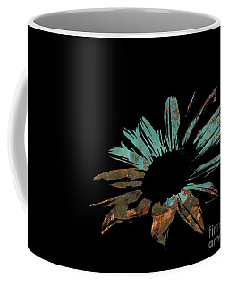 Contemporary Flower Rusty Patina Coffee Mug