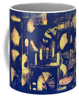 Coffee Mug featuring the painting Contraption by 'REA' Gallery