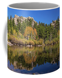 Cool Calm Rocky Mountains Autumn Reflections Coffee Mug