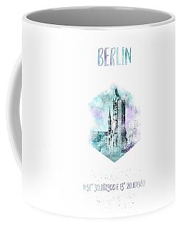 Coordinates Berlin - Jazzy Watercolor Coffee Mug