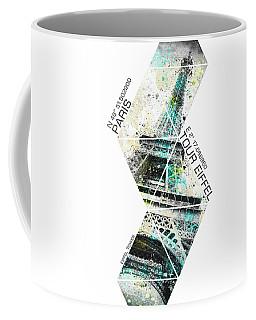 Coordinates City Art Eiffel Tower Coffee Mug
