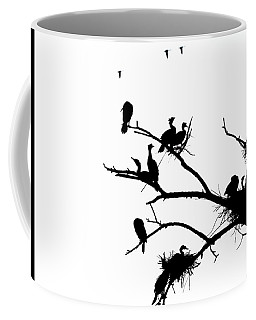 Cormorant's In Silhouette Coffee Mug