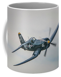 Coffee Mug featuring the photograph Corsair Approach by Tom Claud