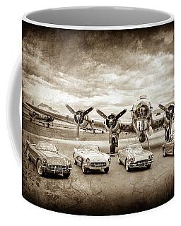 Corvettes And B17 Bomber -0027s Coffee Mug