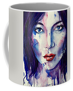 Coffee Mug featuring the painting Cosmic Journey by Michal Madison