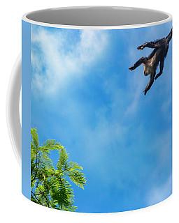Costa Rica Leaping Capuchin Monkey Coffee Mug